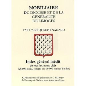 Nobiliaire du diocèse et de la Généralité de Limoges (Cd-Rom)