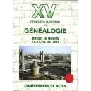 Conférences et actes du XVème congrès national de généalogie